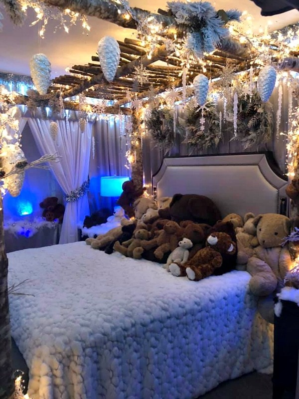 Teddy Bear Suite Bed at Fairmont Olympic in Seattle