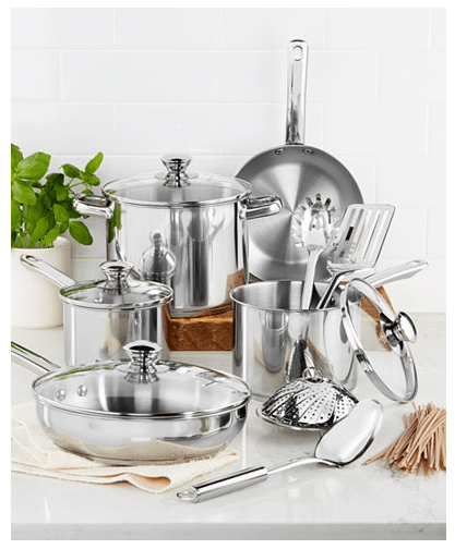 Tools of the Trade Stainless Steel 13-Pc. Cookware Set $39.99 (Reg $119.99)