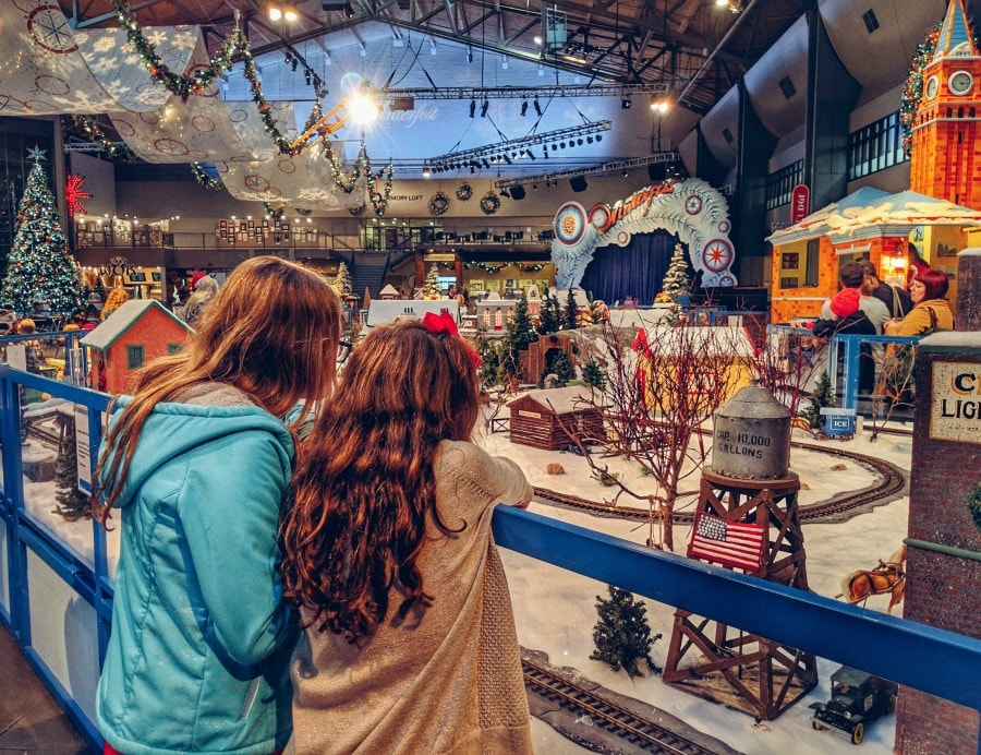 Train Village at Armory in Seattle Center