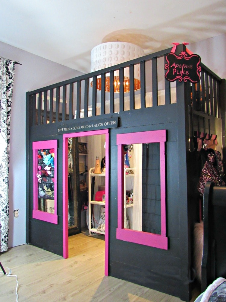 How We Transformed This Playhouse Bunk Bed Into A Tween Walk In Closet