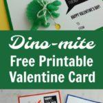 DIY Dinosaur Free Printable Valentine Card