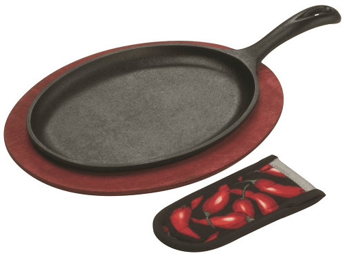 Lodge Cast Iron Fajita Set, Pre-Seasoned