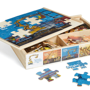 Set of 4 24-Piece Wooden Puzzles