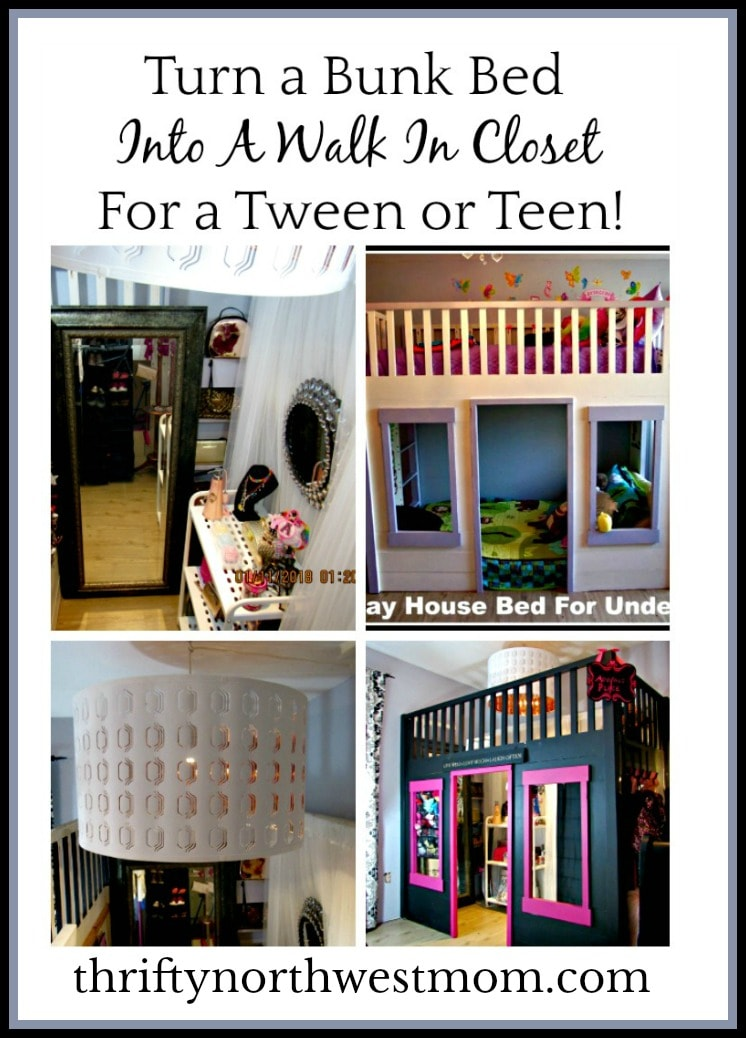 Turning A Bunk Bed Into A Walk In Closet For A Tween Or
