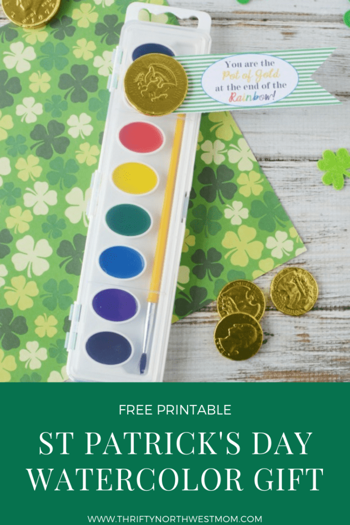 St Patrick's Day – Watercolor Gift Idea + FREE Printable Gift Tag!
