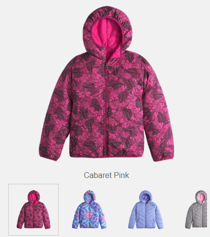 The North Face Reversible Perrito Jacket – Girls $54.73 (Reg $110)