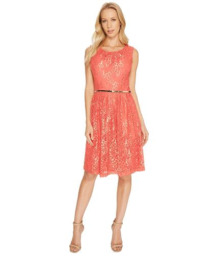 Ellen Tracy Coral Lace Dress