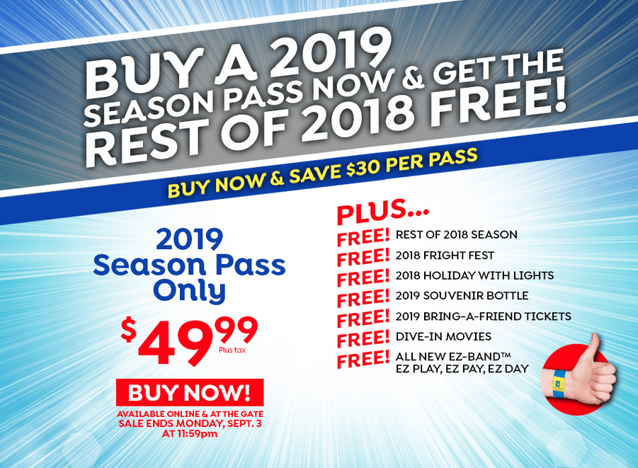 Wild Waves Discount Season Pass for 2019