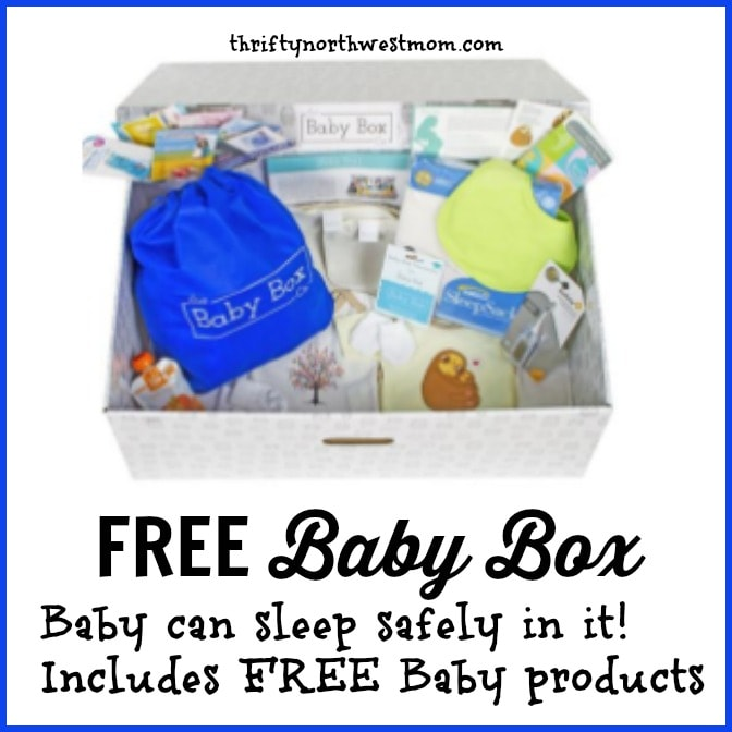 Free Baby Box, with Baby Products In It!