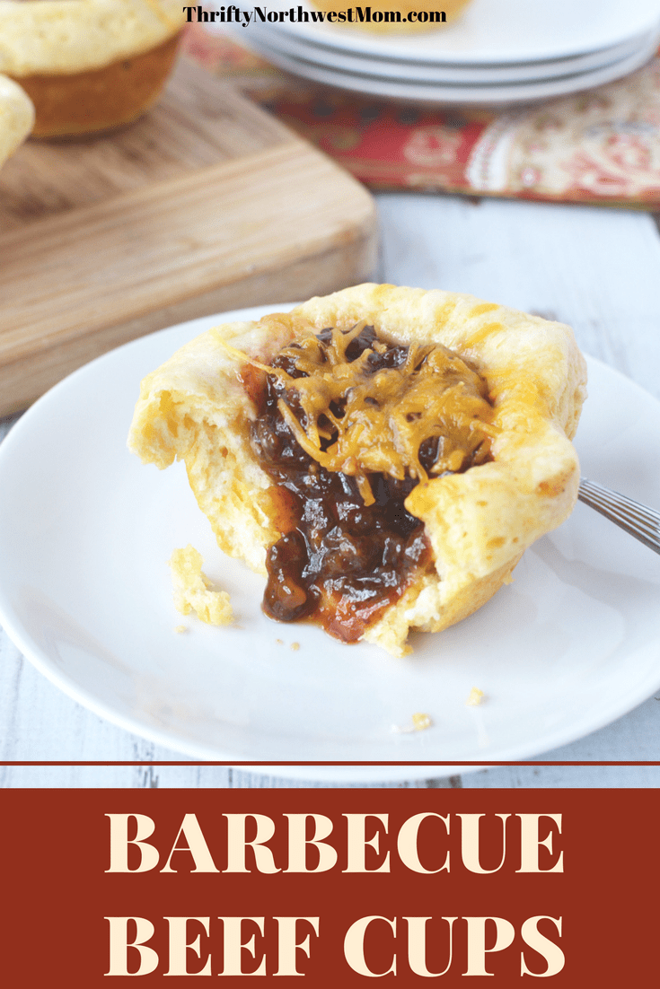 Barbecue Beef Cups are an easy dinner recipe that is very kid friendly & fast