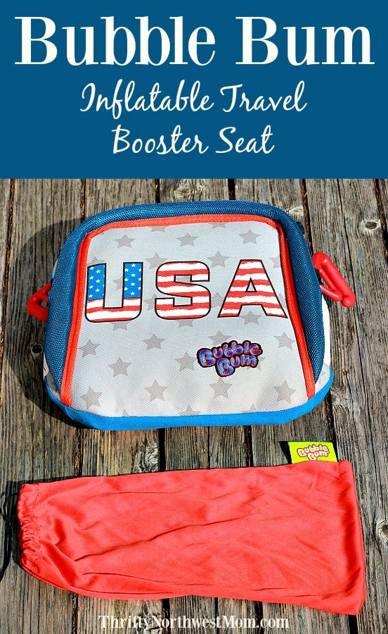 Bubble Bum Inflatable Travel Booster Seat for Traveling with Kids