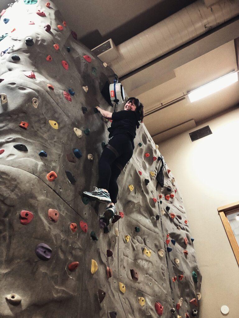 rock climbing wall sunriver