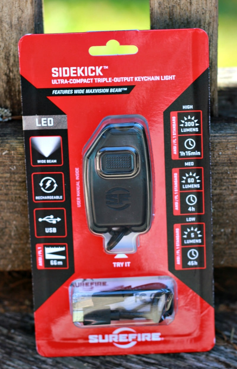 Surefire Sidekick Keychain Light Packaging