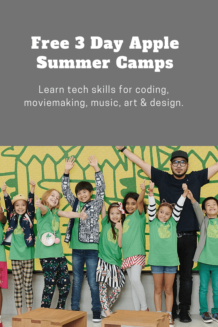 Free 3 Day Apple Summer Camps