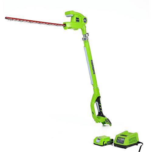 Greenworks 20-Inch 24V Cordless Pole Hedge Trimmer