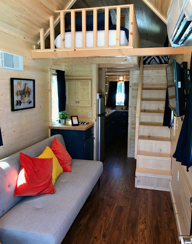 Inside of Otto Tiny House at Leavenworth Tiny House Village