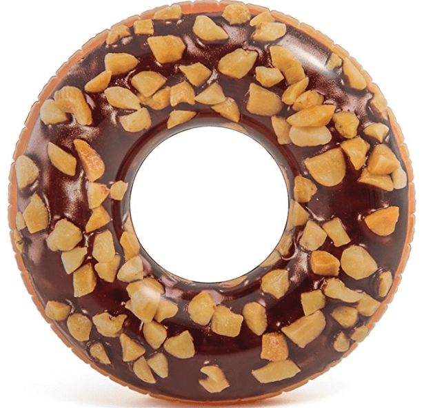 Intex Nutty Chocolate Donut Inflatable Tube with Realistic Printing