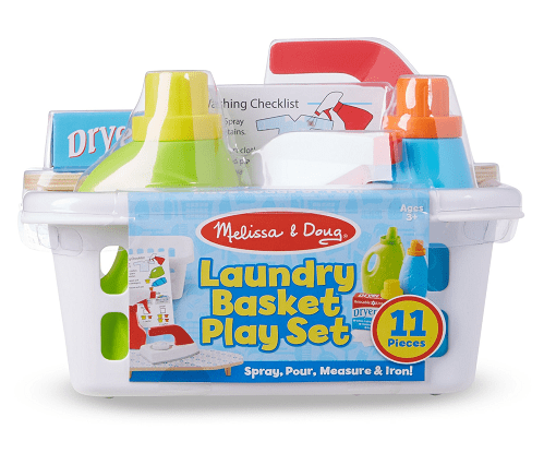 Melissa & Doug 11-Piece Laundry Basket Play Set