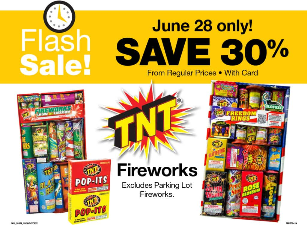 #QFCGrocery – 30% Off Fireworks Flash Sale (Today Only)!