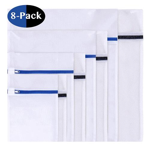 Set of 8 Mesh Laundry Bags