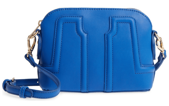 Structured Faux Leather Dome Crossbody