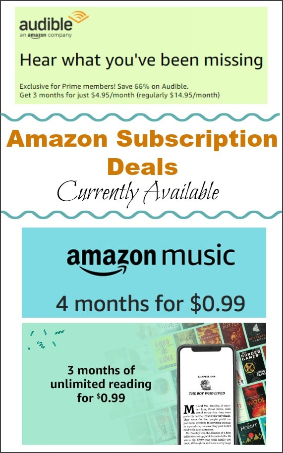 Amazon Subscriptions Deals (Services Like Prime, Music, audible, HBO & More)!!