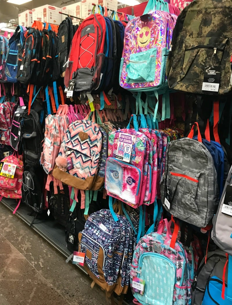 Backpacks at Fred Meyer