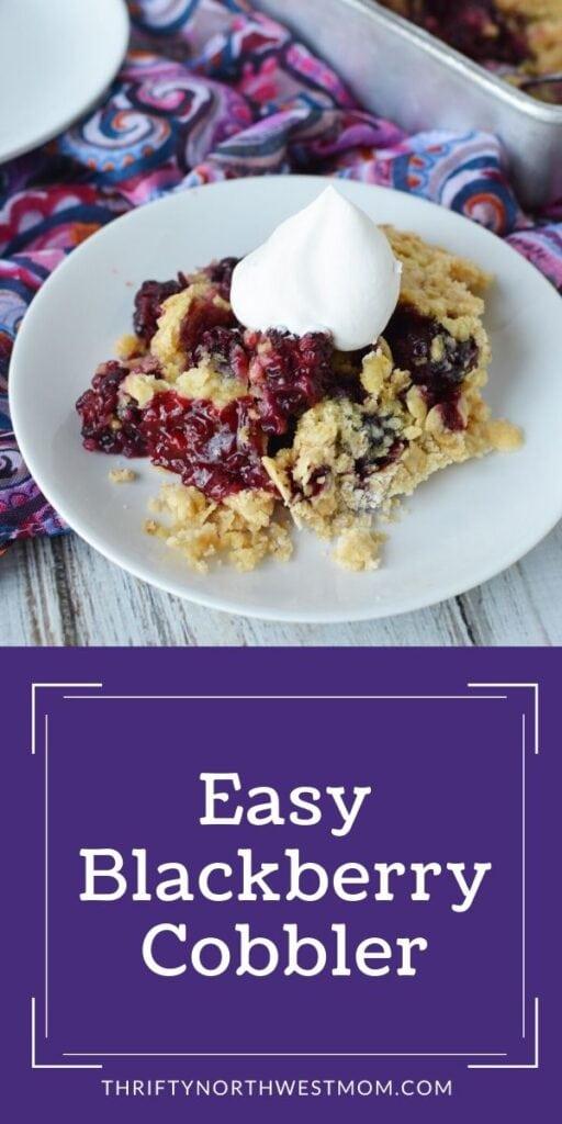 Easy Blackberry Cobbler Recipe – Simple & Delicious