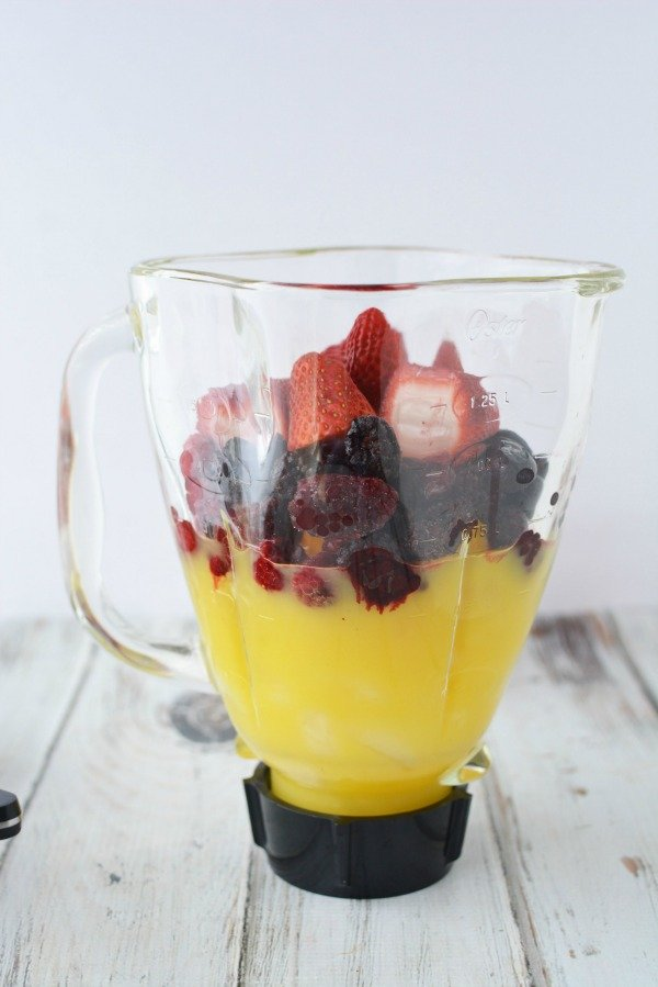 Berry Pineapple Smoothie in Blender