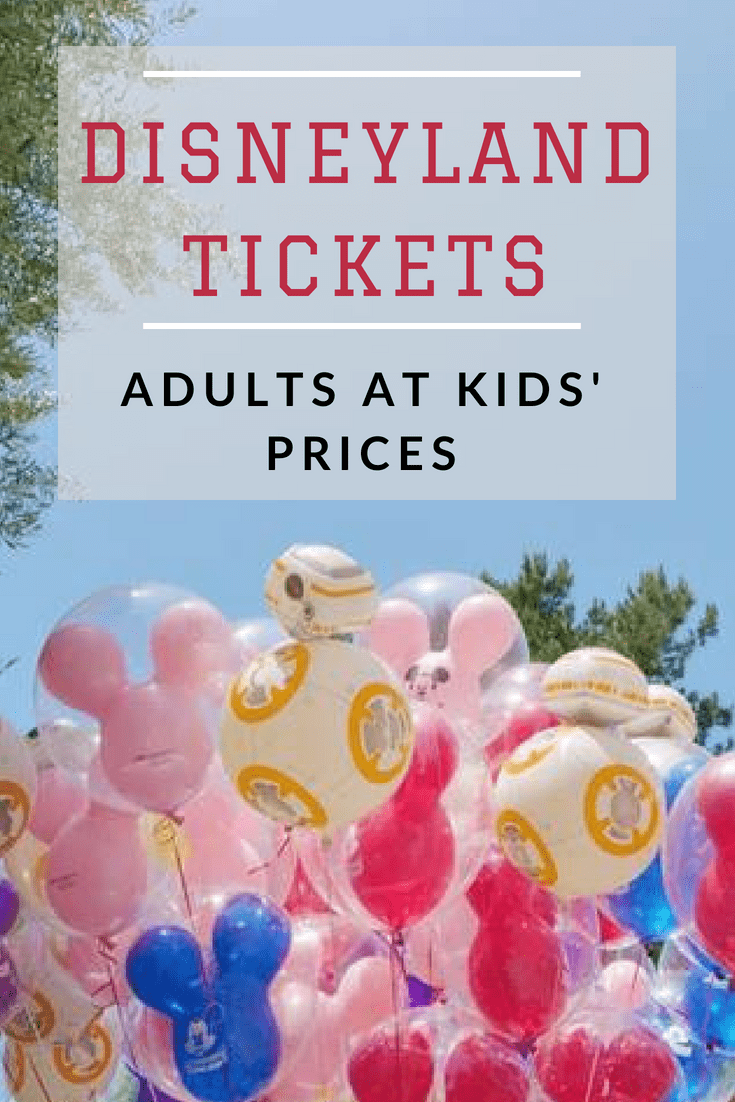 Disneyland Tickets Adults at Kids Prices