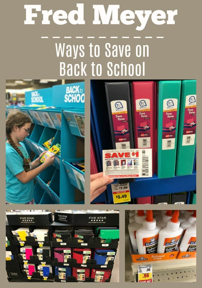 Fred Meyer – Ways to Save on Back to School Shopping!