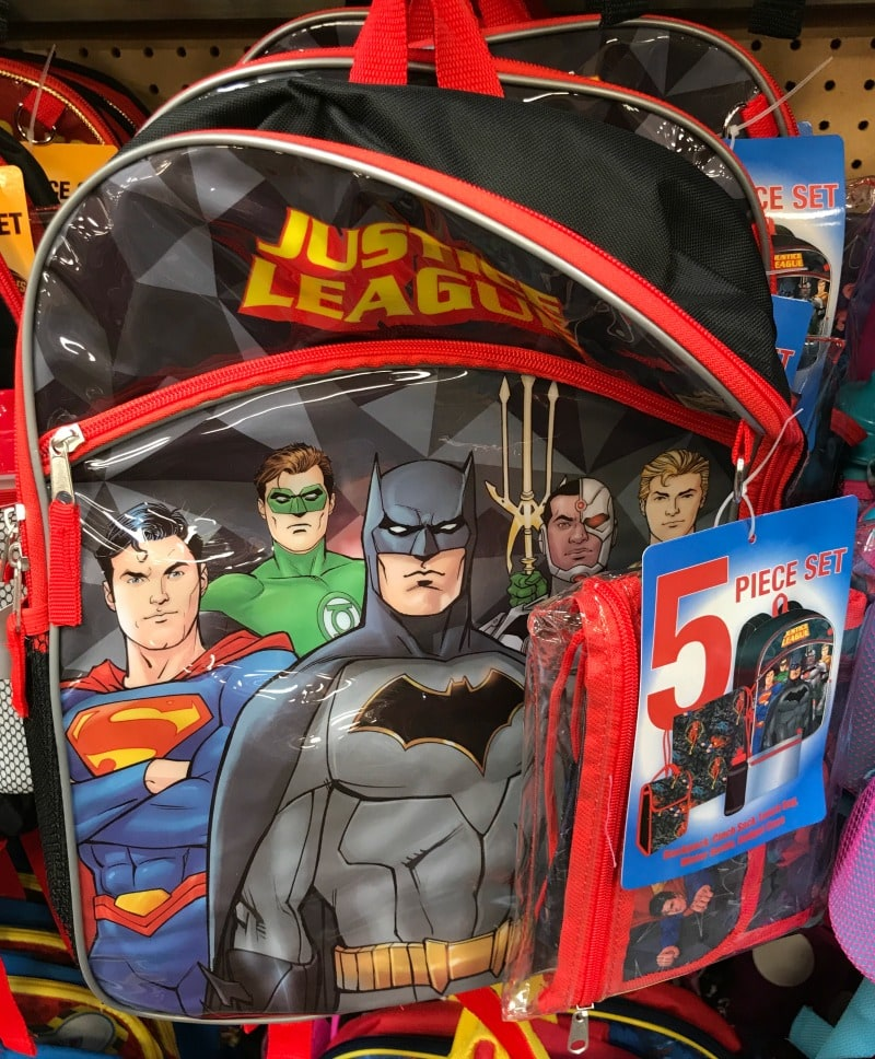 Justice League Backpack Set