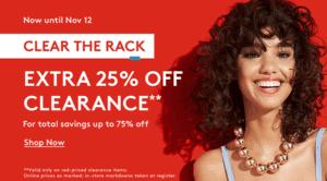 Nordstrom Rack Clear The Racks Sale
