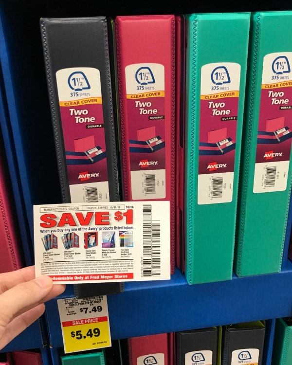 Pairing coupons with sales for Avery