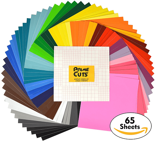 Permanent Adhesive Backed Vinyl Sheets 12″ x 12″ 65 pack
