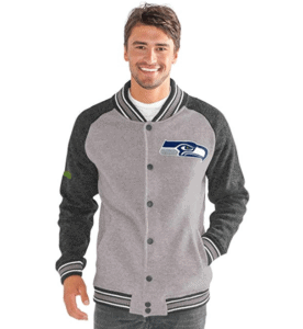 Seahawks G-III Sports The Ace Sweater Varsity Jacket