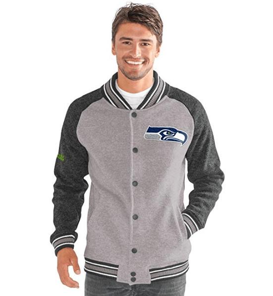 Seahawks G-III Sports The Ace Sweater Varsity Jacket
