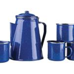 Stansport Enamel Percolator & Mugs