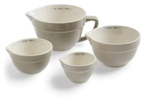 Stoneware Measuring Cups