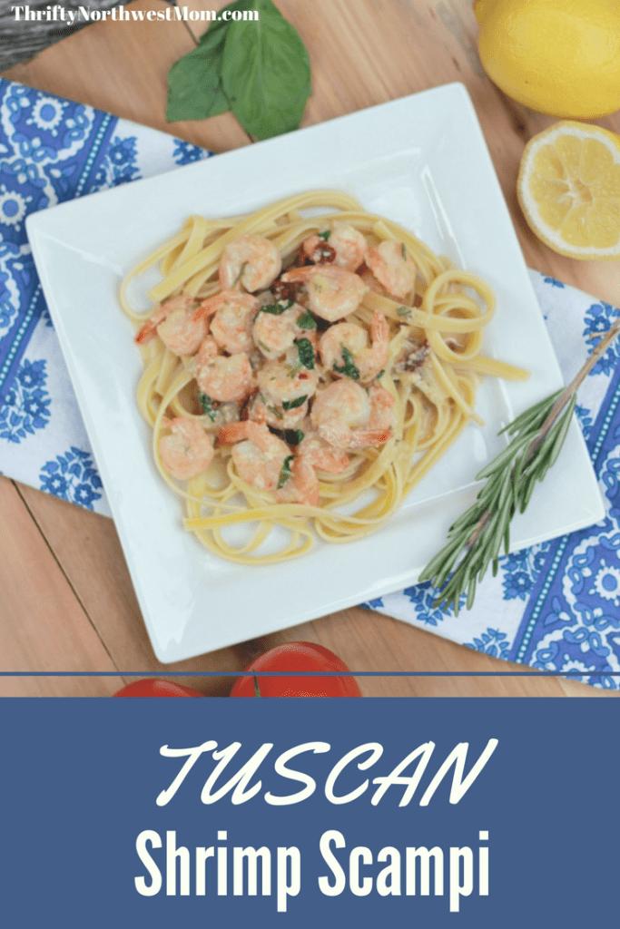 Tuscan Shrimp Scampi Recipe