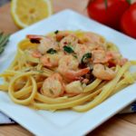 Tuscan Shrimp Scampi is creamy with bold flavors for a delicious dish.
