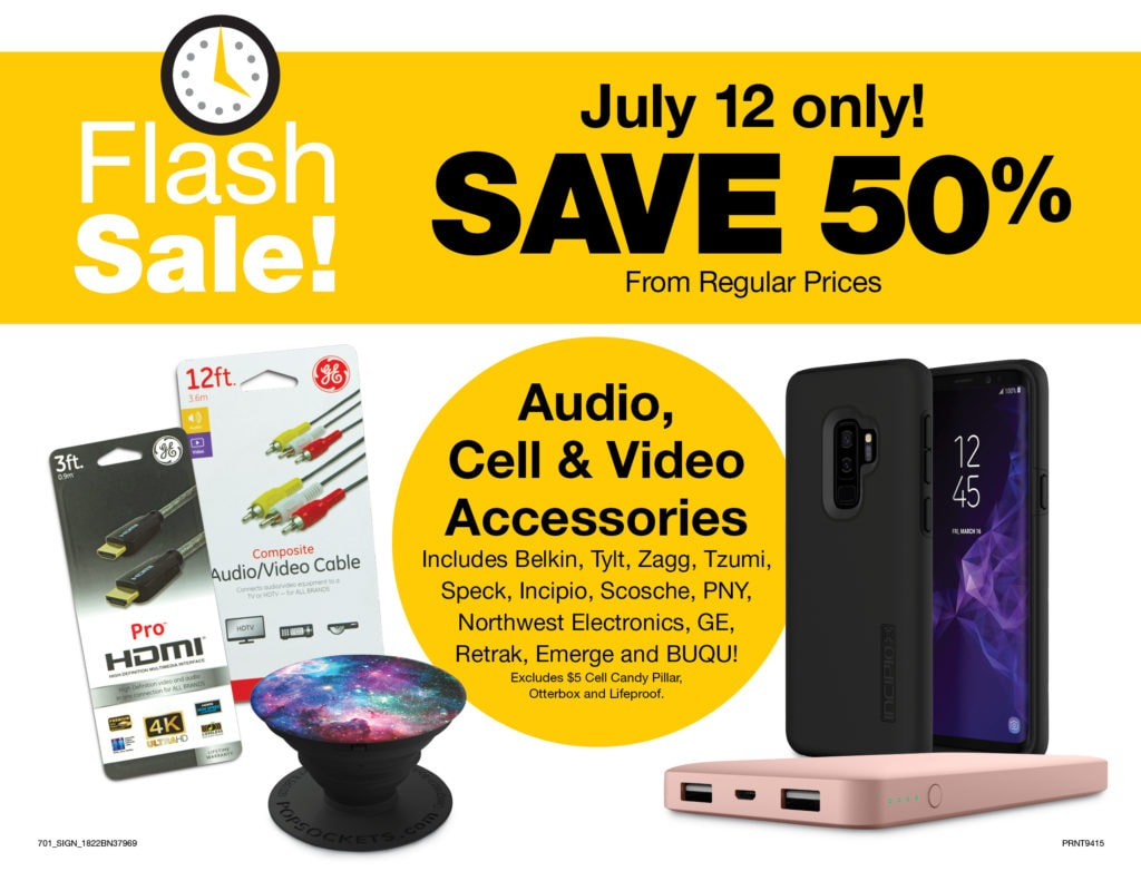 Fred Meyer Flash Sale – 50% Off Audio, Cell & Video Accessories Today Only!