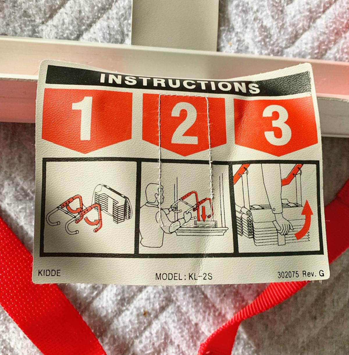 Kidde Fire Safety Ladder Instructions