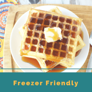 Easy Buttermilk Waffles that are Freezer Friendly & a Great Make Ahead Breakfast