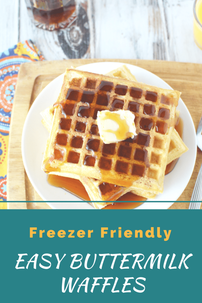 Easy Buttermilk Waffles that are Freezer Friendly & a Great Make Ahead Breakfast