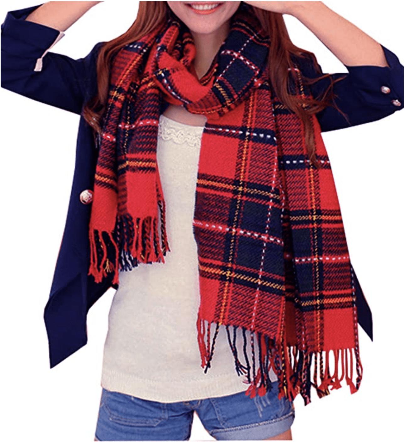 Winter warm scarf