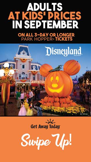 Disneyland During the Halloween Season- Special Promotions Available!