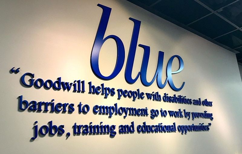 Blue Goodwill Store's Commitment