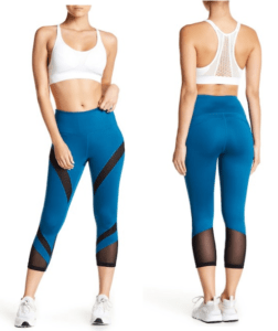 By Zella High Waist Montage Mesh Panel Leggings
