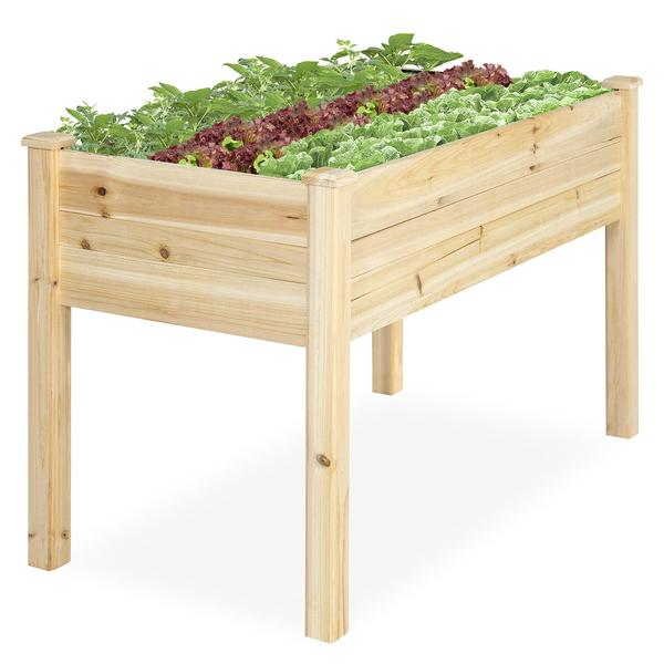 Raised Cedar Wood Garden Planter $69.99 Shipped From Best Choice Products!